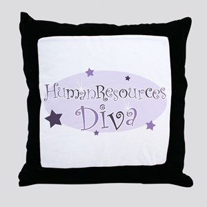 """Human Resources Diva"" [purpl Throw Pillow"